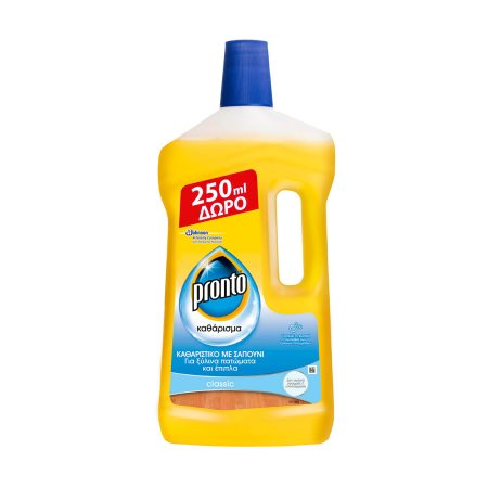 PRONTO Καθαριστικό Υγρό με Σαπούνι για Ξύλινα Πατώματα & Έπιπλα 1000ml τα 250ml Δώρο