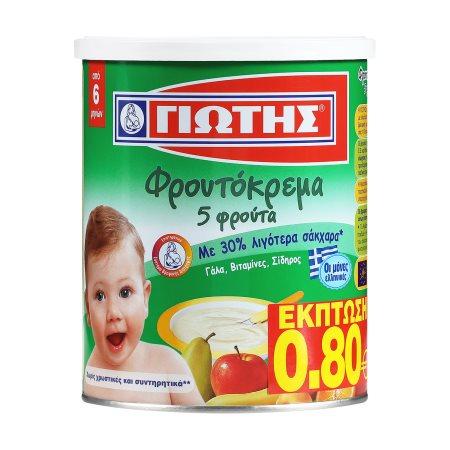 ΓΙΩΤΗΣ Φρουτόκρεμα 5 Φρούτα 300gr