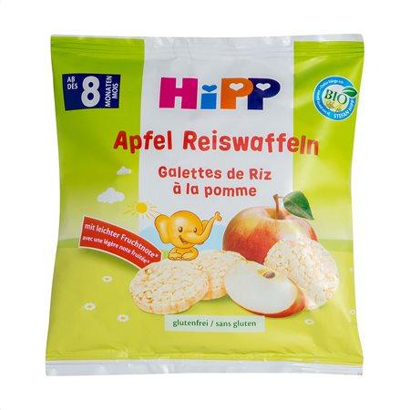 HIPP Ρυζογκοφρέτες με Μήλο Βιολογικές 30gr