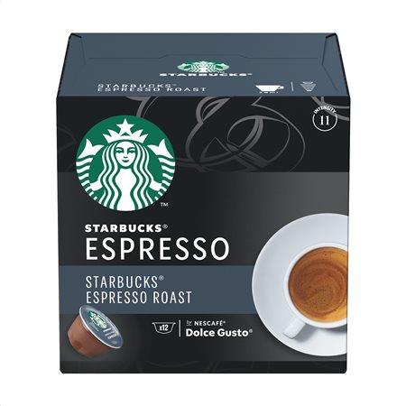 STARBUCKS Καφές Espresso Roast σε Κάψουλες συμβατές με μηχανή Dolce Gusto 12x5,5gr