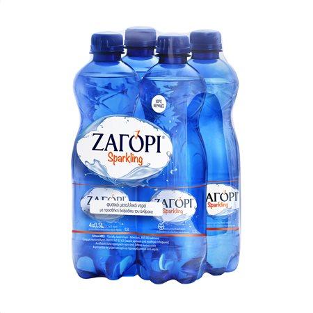 ΖΑΓΟΡΙ Νερό Ανθρακούχο 4x500ml