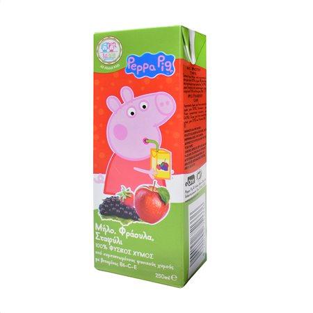 PEPPA PIG Χυμός Φυσικός Φράουλα Μήλο Σταφύλι 250ml