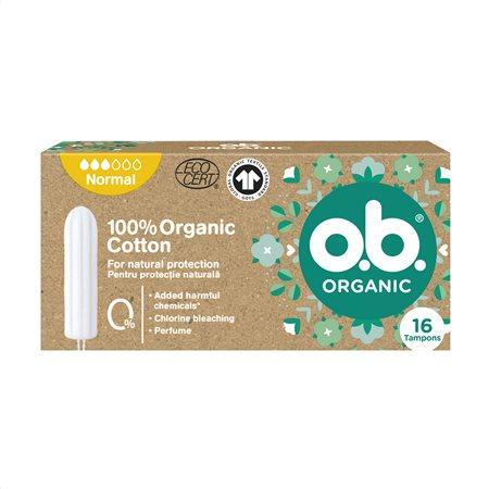 O.B. Ταμπόν Organic Normal 16τεμ