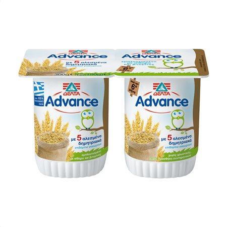 ΔΕΛΤΑ Advance Επιδόρπιο Γιαουρτιού με Δημητριακά Παιδικό 2x150gr