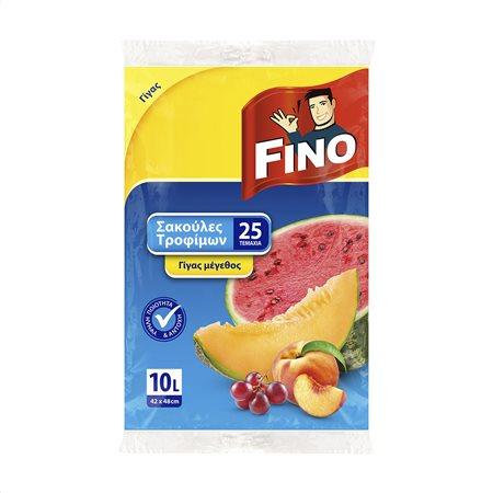 FINO Σακούλες Τροφίμων Γίγας 25τεμ